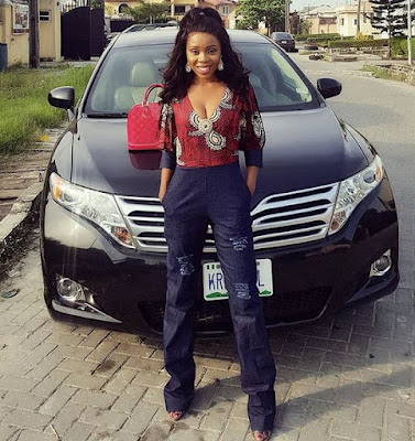 Pics: Young lady Who Bought Tear Rubber Toyota Venza From Her Hair Business Shares Her Story
