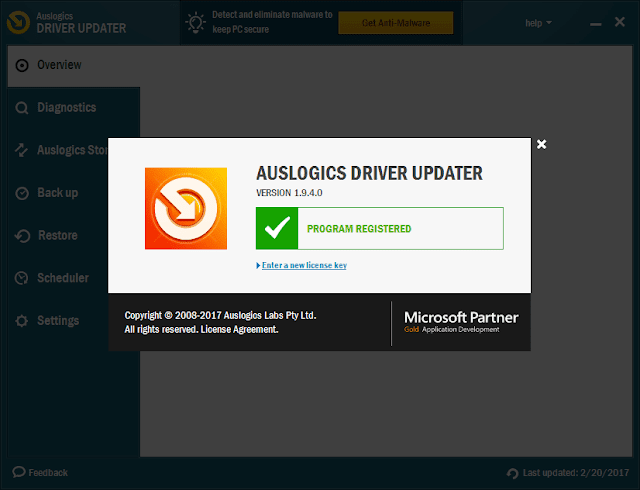 Auslogics Driver Updater 1.9.4 Serial Key