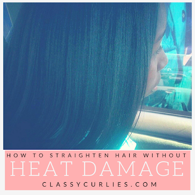 How to straighten natural hair without heat damage - ClassyCurlies