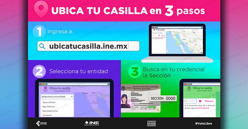 INE: Ubica tu Casilla para Votar Elecciones México 2018 (1° Julio) Dónde Votar - Instituto Nacional Electoral - www.ubicatucasilla.ine.mx