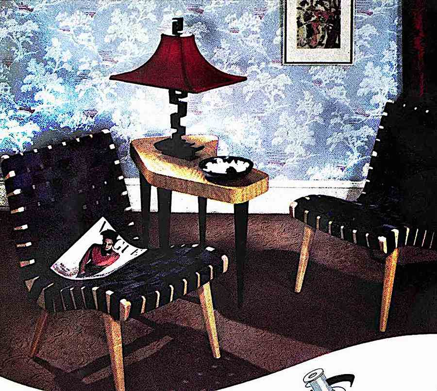 1947 modern furniture in a color photograph