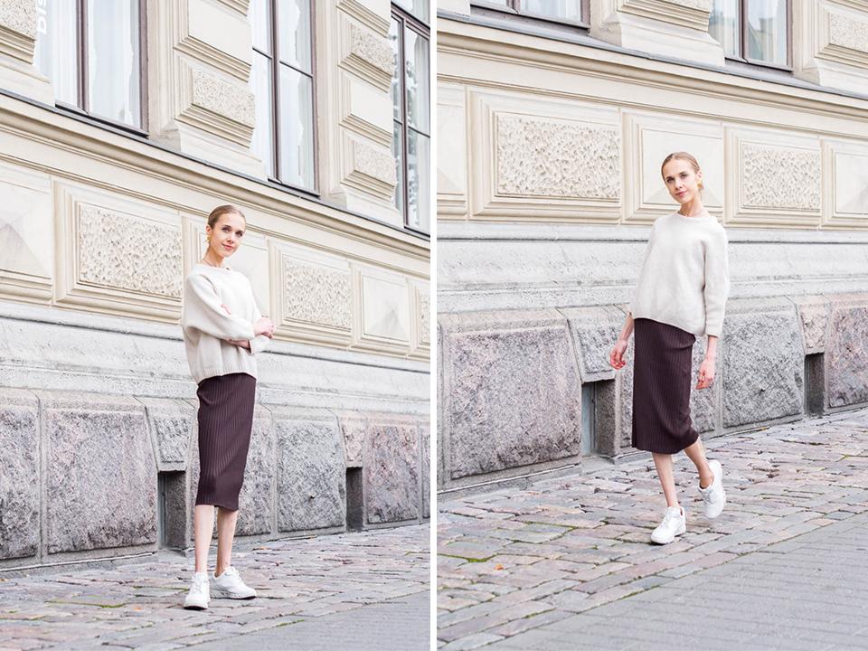 scandinavian-minimal-style-fashion-blogger-autumn-outfit-syksy-muoti-bloggaaja-neule-villapaita-midihame