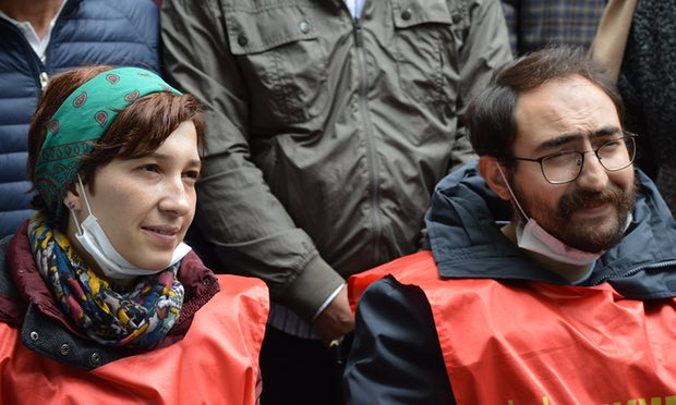 Two Turkish teachers on 75-day hunger strike detained by police