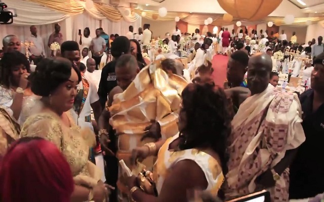 Mercy Asiedu And Husband Display At Vivian Jill Lawrence's Son's Naming Ceremony [Video]