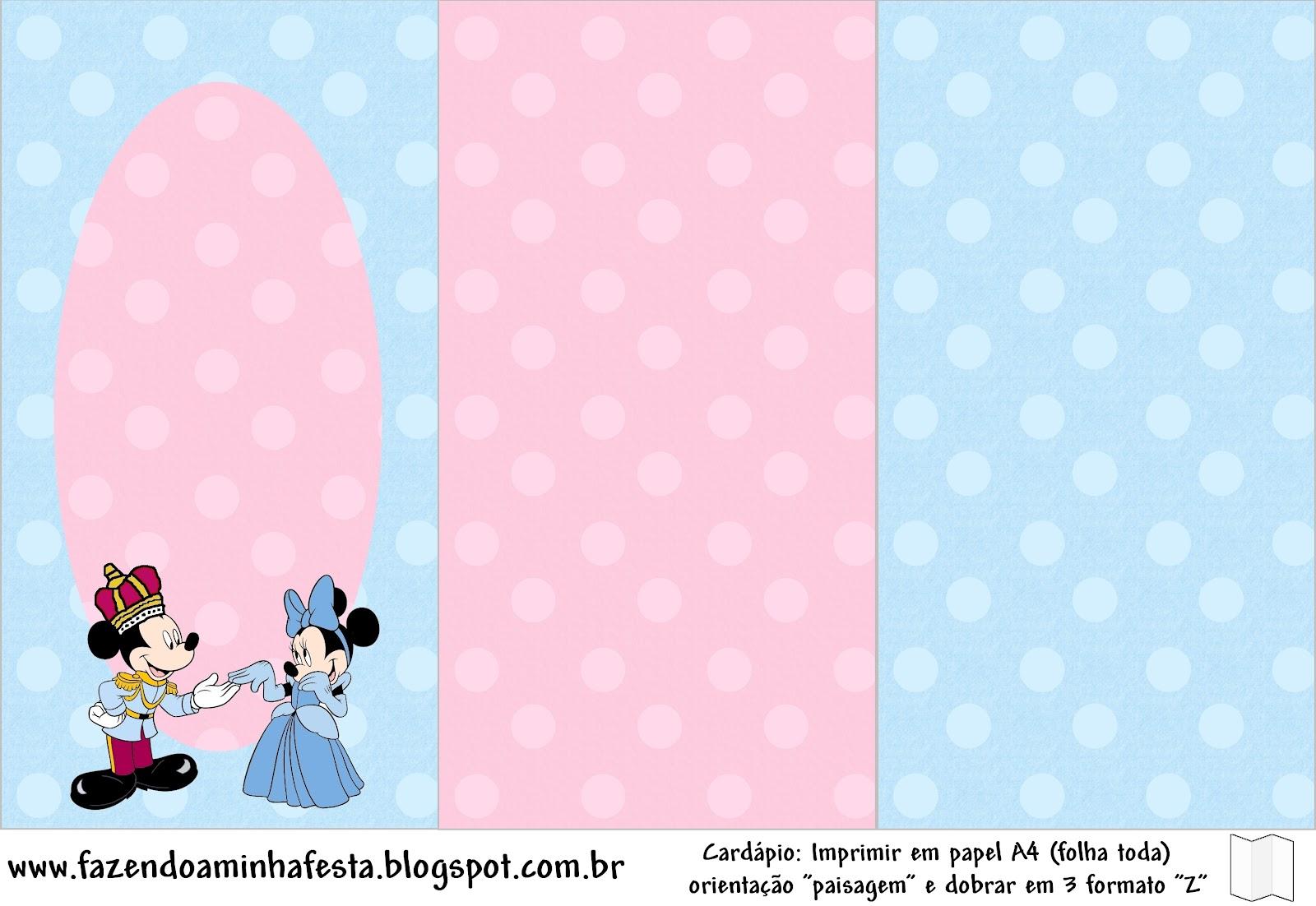 Imprimibles Minnie Y Mickey Rey Y Reina 7 Ideas Y
