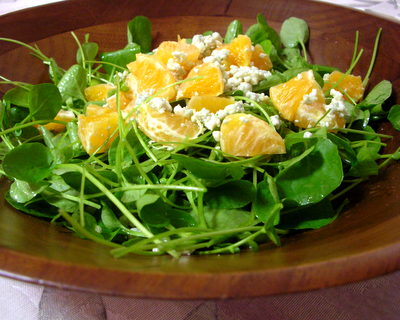Watercress, Clementine & Blue Cheese Salad, another healthy, seasonal salad ♥ AVeggieVenture.com
