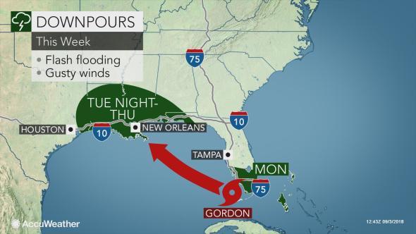 La tormenta tropical Gordon se acerca a la Costa del Golfo