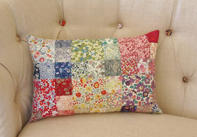 Liberty Pillow by Heidi Staples of Fabric Mutt