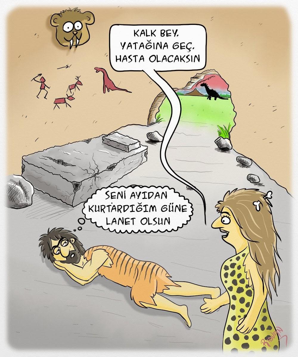 Taş Devri Karikatürü