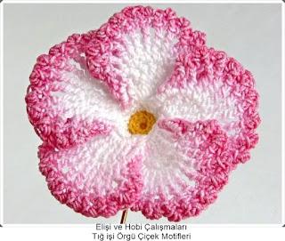 Tığ işi Örgü Çiçek Motifleri 4