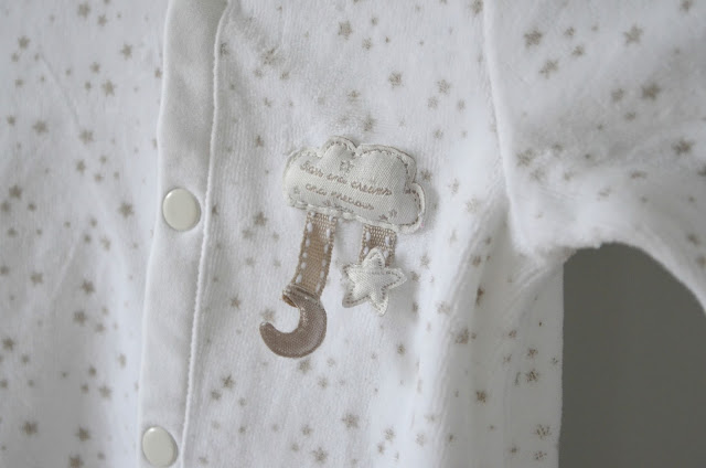 star and cloud babygrow