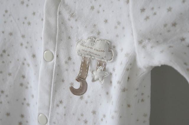 star and cloud babygrow