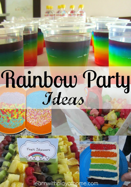 rainbow party, rainbow birthday, rainbow jelly, rainbow cake