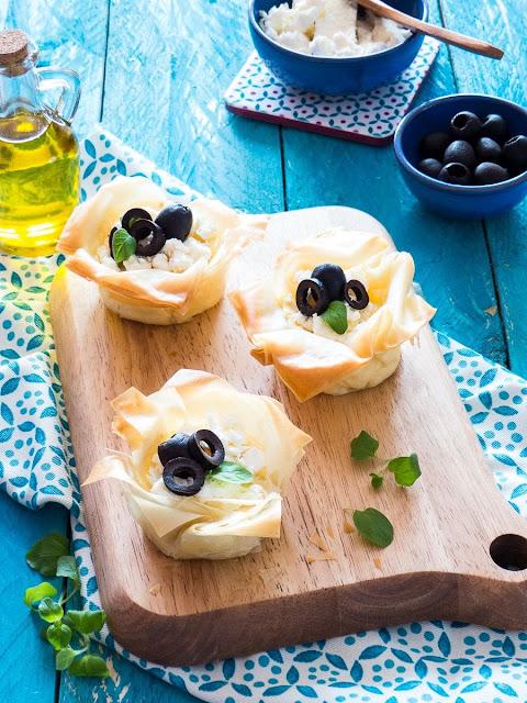 Griechische Feta-Cheesecakes im Filoteig von Meine Küchenschlacht