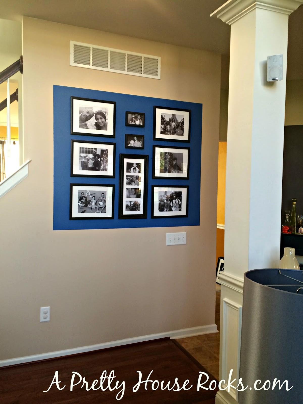 DIY - Photo & Accent Wall - A Pretty House Rocks - Home ...