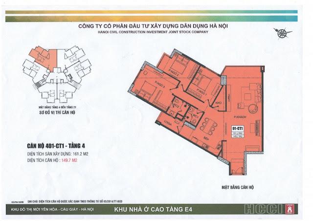 thiết kế căn số 1 tòa ct1 chung cư e4 yên hòa