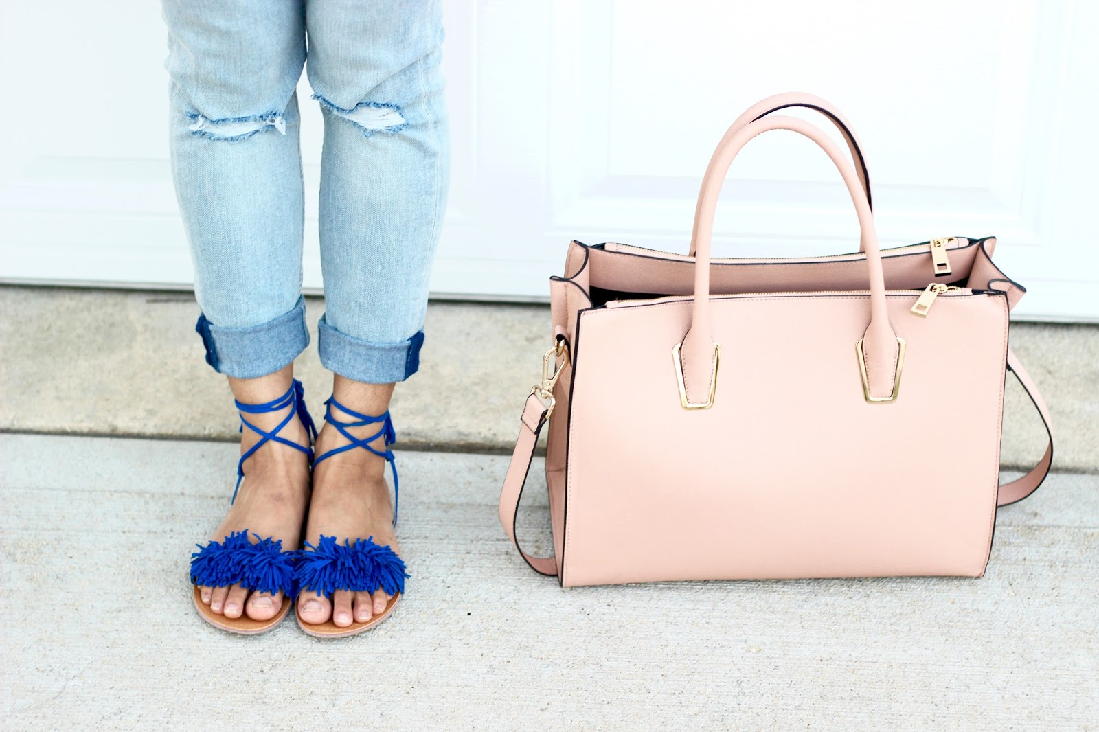 Fringe summer sandals