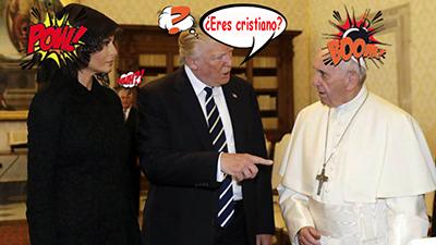 el villano arrinconado, humor, chistes, reir, satira, Donald Trump, Francisco
