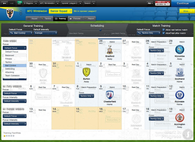 Calendar In Football Manager 2013