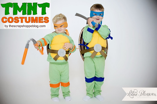 DIY TMNT Costumes from sweats and handkerchiefs!