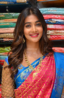 Puja Hegde looks stunning in Red saree at launch of Anutex shopping mall ~ Celebrities Galleries 026.JPG