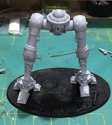 Cerastus Knight-Castigator WIP Legs assembled