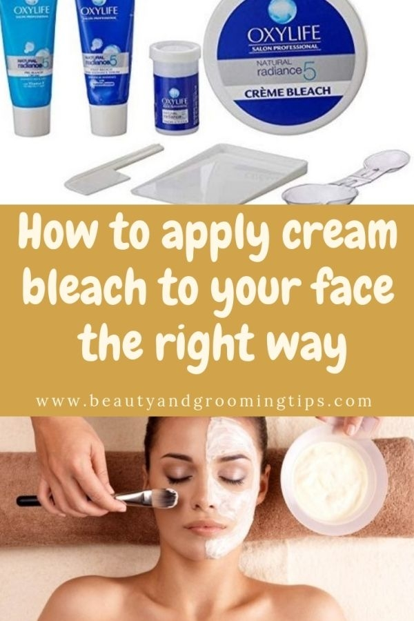 How to apply cream bleach - step by step instructions
