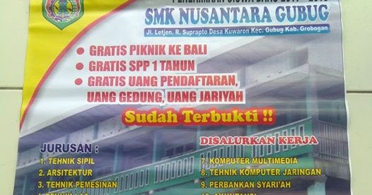Penerimaan Siswa Baru 2017 2018 Smk Nusantara Gubug Komunitas Smk Kabupaten Grobogan