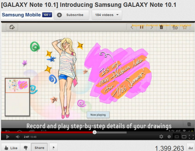 Samsung Galaxy Note 10.1 Tablet with Stylus