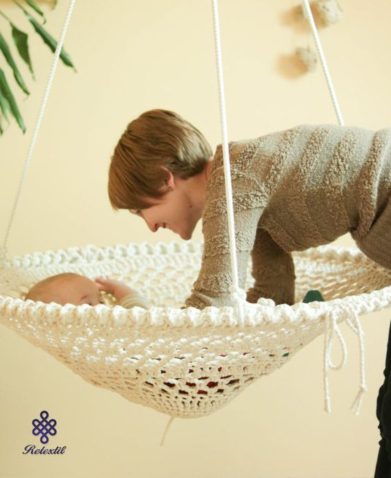 crochet baby hammock