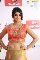 Harshika Ponnacha in orange blouuse brown skirt at Mirchi Music Awards South 2017 ~  Exclusive Celebrities Galleries 069.JPG