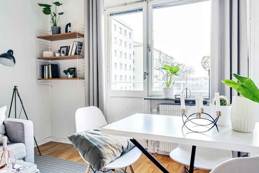 wystrój wnętrz, wnętrza, urządzanie mieszkania, dom, home decor, dekoracje, aranżacje, kawalerka, małe mieszkanie, small apartments, styl skandynawski, scandinavian style