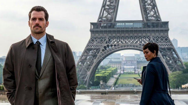 Henry Cavill as August Walker with Angela Bassett in Mission: Impossible - Fallout, Paris Scene, Eiffel Tower
