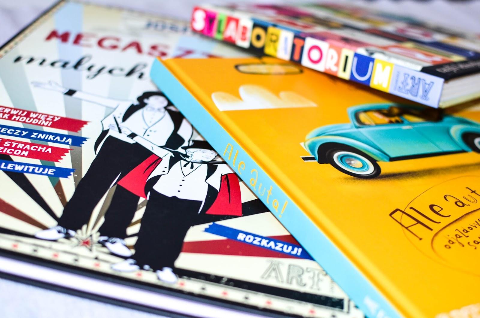 książki dla dzieci o motoryzacji, ale auta, megasztuczki, sylaboratorium