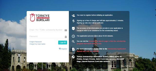 Aplikasi Pendaftaran Beasiswa YTB Turki