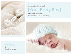 Image: Baby boy birth announcement - Share the joy with this boy birth announcement card template