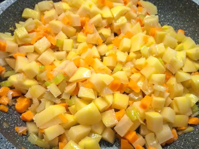 Soffritto all'italiana e patate