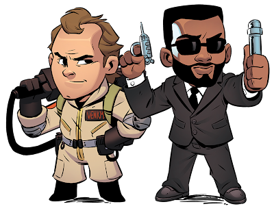 Men In Black and The Ghostbusters Meet