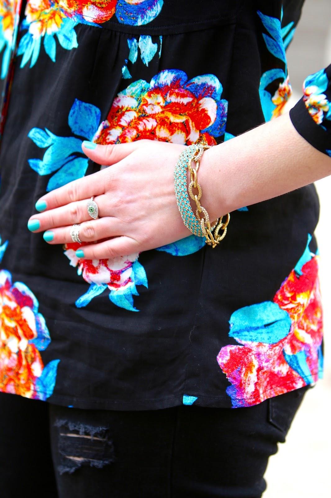 turquoise jewelry nail polish