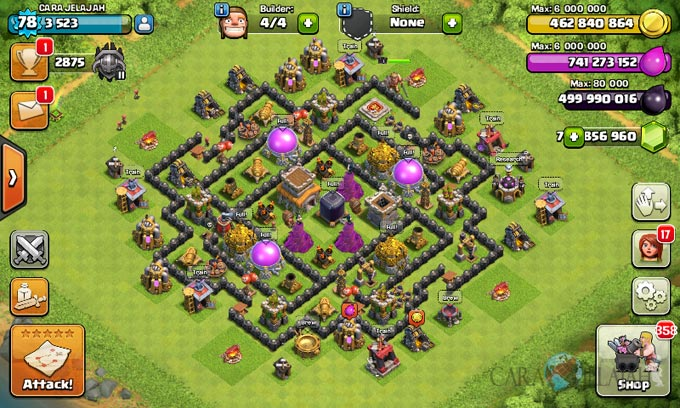Susunan Formasi Base War TH 8 Update Terbaru 17