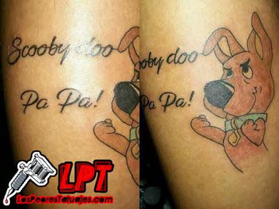 Tatuaje de Scooby Doo Pa Pa