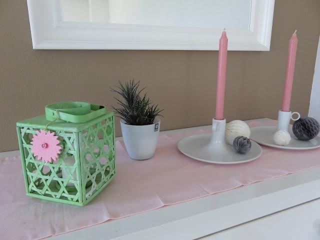 weisse kommode scandi rosa deko