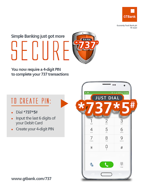 GTBank 737 Simple Banking - How to create a 4-digit USSD banking PIN
