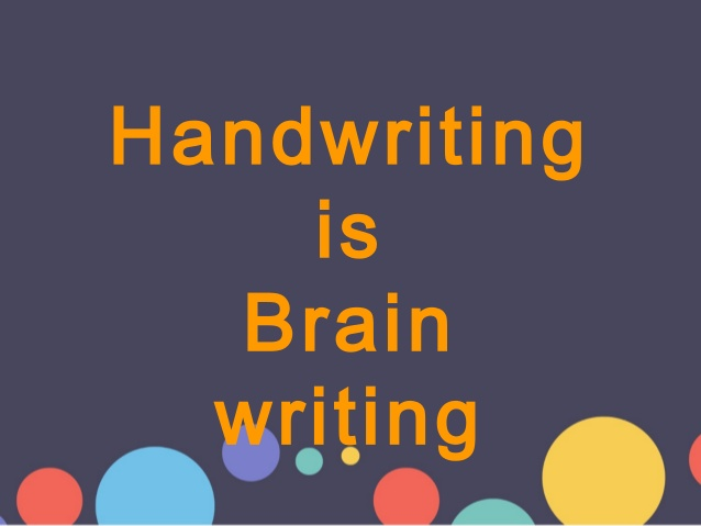 PPT - Handwriting is the brain writing