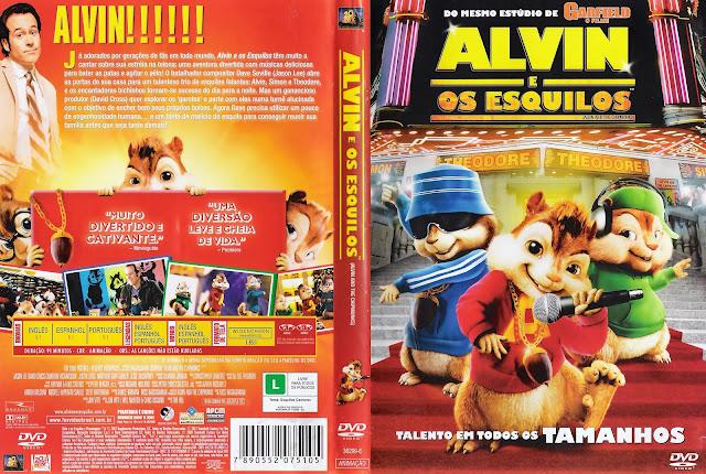 Capa DVD Alvin e os Esquilos
