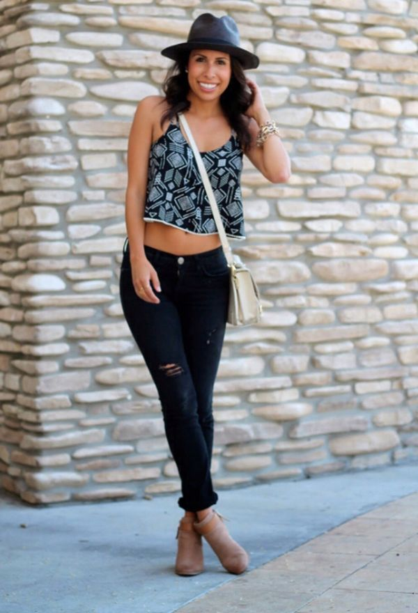 Outfits Con Botines Cafes