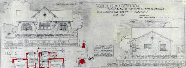 ID 539 - Projeto de uma residência à rua Luciano das Neves, Vila Velha, proprietário, Ewerton da Silva Guimarães, fevereiro de 1938.