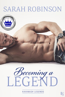 romance novel cover, contemporary romance, Becoming a Legend by Sarah Robinson