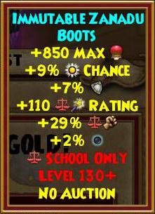 Wizard101 Best Level 130+ Balance Gear