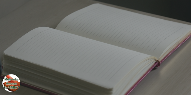 "Feature image of an empty journal in the article ""7 Tips For Successful Journal Keeping"" - tips for writing a success journal"